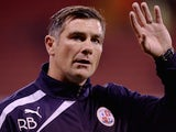 Crawley Town manager Richie Barker during the Sky Bet League One match between Sheffield United and Crawley Town at Bramall Lane on October 04, 2013