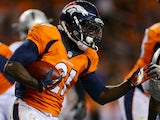 Denver Broncos' Ronnie Hillman runs with the ball during the game against Oakland Raiders on September 23, 2013