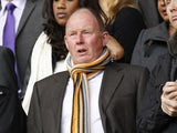 Wolverhampton Wanderers's Chairman Steve Morgan awaits kick off during an English Premier League football match between Wolverhampton Wanderers and Manchester City at Molineux Stadium in Wolverhampton, England on April 22, 2012