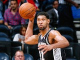 San Antonio Spurs' Tim Duncan in action against Atlanta Hawks on October 17, 2013