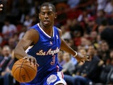 Chris Paul of the Los Angeles Clippers brings the ball up the court during a game against the Miami Heat at AmericanAirlines Arena on November 7, 2013