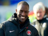 Charlton Athletic manager Chris Powell grins during a Championship match on November 2, 2013