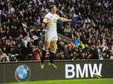 Chris Ashton of England celebrates after scoring a try during the QBE International match between England and Argentina at Twickenham Stadium on November 9, 2013