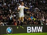 Chris Ashton of England celebrates after scoring a try during the QBE International match between England and Argentina at Twickenham Stadium on November 9, 2013