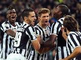 Fernando Llorente of Juventus celebrates after scoring the opening goal during the Serie A match between Juventus and SSC Napoli at Juventus Arena on November 10, 2013