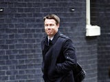 Graeme Le Saux arrives for a meeting to discuss racism in football at 10 Downing Street on February 22, 2012