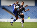 Jose Semedo of Sheffield Wednesday and Max Ehmer of Preston challenge for the ball during the npower League One match between Sheffield Wednesday and Preston North End at Hillsborough Stadium on March 31, 2012