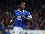 Everton's Sylvain Distin in action against Spurs on November 3, 2013