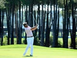 Victor Dubuisson plays an approach during the final round of the Turkish Airlines Open on November 10, 2013