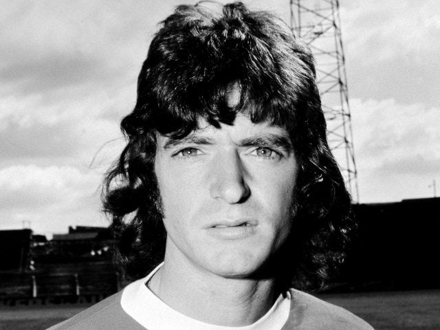 Former Manchester United winger Willie Morgan poses for a team photograph in 1969.