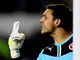 Alex McCarthy of Reading in action during the Sky Bet Championship match between Reading and Leeds United at Madejski Stadium on September 18, 2013