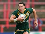 Australia's Billy Slater in action against USA during their World Cup quarter final match on November 16, 2013