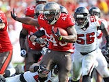 Running back Bobby Rainey of the Tampa Bay Buccaneers runs for a gain in the 2nd quarter against the Atlanta Falcons November 17, 2013