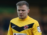 David Ball of Fleetwood Town in action during the npower League Two match between Northampton Town and Fleetwood Town at Sixfields Stadium on January 5, 2013