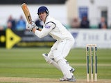 Jimmy Adams of Hampshire plays to the offside during day one of the LV County Championship second division match between Gloucestershire and Hampshire on May 8, 2013