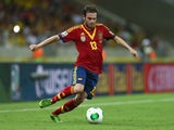 Juan Mata of Spain in action during the FIFA Confederations Cup Brazil 2013 Semi Final match between Spain and Italy at Castelao on June 27, 2013