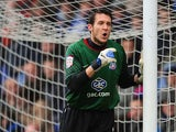 Goalkeeper Lewis Price of Crystal Palace during the npower Championship match between Crystal Palace and Cardiff City at Selhurst Park on April 28, 2012