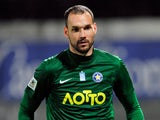 Asteras Tripolis' Marton Fulop in action against PAOK during their Greek Super League match on May 22, 2013
