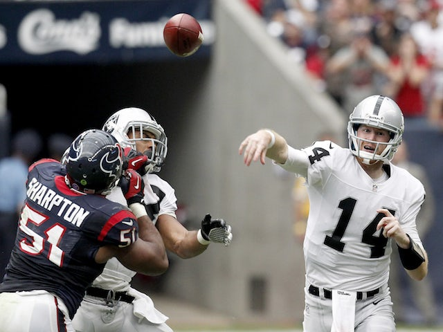 Result: Raiders hold firm to beat Texans