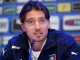 Riccardo Montolivo of Italy speaks to the media during press conference at Coverciano on November 13, 2013