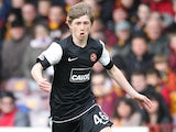 Dundee United's Ryan Gauld in action against Motherwell on May 13, 2012