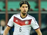 Sami Khedira in action for Germany against Italy on November 15, 2013.