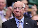 Former England and Manchester United footballer Bobby Charlton in the Royal Box before play on day six of the 2012 Wimbledon Championships tennis tournament at the All England Tennis Club on June 30, 2012