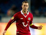 Hannover's Steven Cherundolo in action against Twente during their Europa League match on November 22, 2012