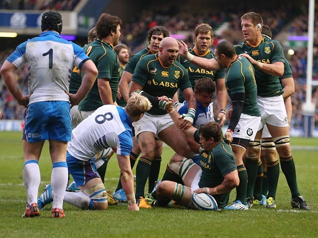 Result: South Africa rout Scotland in Edinburgh