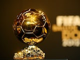 A general shot of the Ballon d'Or trophy on January 7, 2013