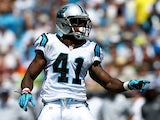Carolina Panthers' Captain Munnerlyn in action against Seattle Seahawks on September 8, 2013