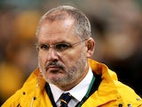 Wallabies head coach Ewen McKenzie looks on during the International match between Ireland and Australia at Aviva Stadium on November 16, 2013