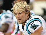 Tight end Greg Olsen of the Carolina Panthers on the bench during the NFL game against the Arizona Cardinals at the University of Phoenix Stadium on October 6, 2013