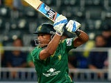 South Africa's batsman Henry Davids plays a shot during the first T20 cricket match between South Africa and Pakistan at the Wanderers Stadium in Johannesburg on November 20, 2013