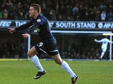 Kevan Hurst of Southend United celebrates scoring the opening goal during the Sky Bet League Two match between Southend United and York City at Roots Hall on November 23, 2013