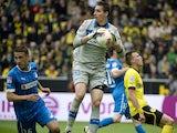 Hoffenheim's goalkeeper Koen Casteels of Belgium makes a save during the German first division Bundesliga football match between Borussia Dortmund and 1899 Hoffenheim in Dortmund on May 18, 2013