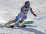 Lindsey Vonn of the U.S. Alpine Ski Team takes the first run to set the pace on the EpicMix Racing Course at Golden Peak on November 8, 2013