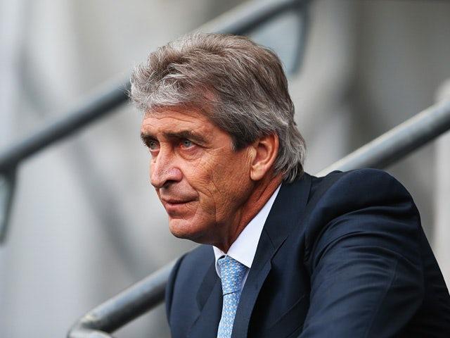 Man City manager Manuel Pellegrini prior to kick-off against Tottenham on November 24, 2013