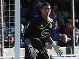 Neil Etheridge of Bristol Rovers in action during the npower League Two match between Bristol Rovers and Northampton Town at Memorial Stadium on October 6, 2012
