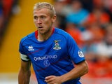 Richie Foran of Inverness Caledonian Thistle in action during the Scottish Premier League match against Dundee United on August 10, 2013