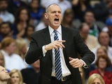 Head coach Rick Carlisle of the Dallas Mavericks at American Airlines Center on October 30, 2013
