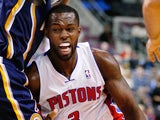 Rodney Stuckey of the Detroit Pistons tries to drive around Lance Stephenson of the Indiana Pacers during the second half at the Palace of Auburn Hills on November 5, 2013