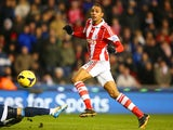 Steven N'Zonzi of Stoke City scores their second goal during the Barclays Premier League match between Stoke City and Sunderland on November 23, 2013