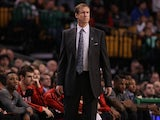 Head coach Terry Stotts of the Portland Trailblazers watches his team play against the Boston Celtics during the game at TD Garden on November 15, 2013