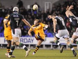 Andy Goode of London Wasps secures the win with a late drop goal during the Aviva Premiership Rugby match between London Irish and London Wasps on November 30, 2013