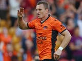 Besart Berisha of the Roar celebrates after scoring a goal during the round eight A-League match between Brisbane Roar and Perth Glory at Suncorp Stadium on November 30, 2013