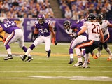 Cordarrelle Patterson #84 of the Minnesota Vikings advances the ball against Chicago Bears on December 1, 2013