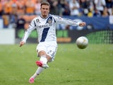 David Beckham in action for LA Galaxy on July 30, 2011.