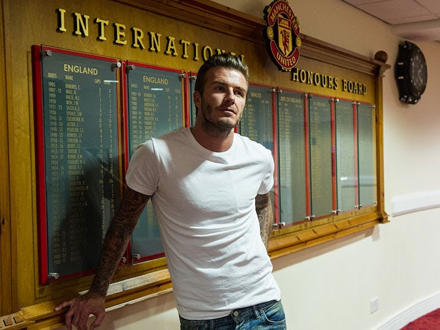 David Beckham during a photoshoot for the documentary 'The Class of '92'
