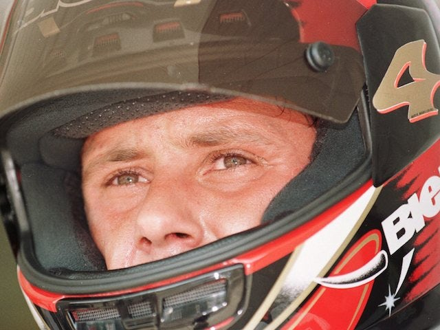 Superbike racer Doriano Romboni pictured on August 18, 1995